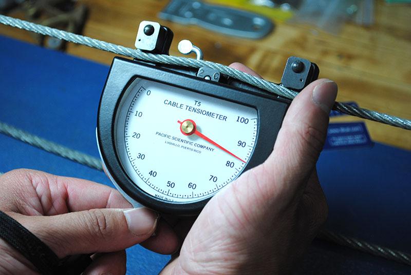 Tool Testing Lab Tension Calibration