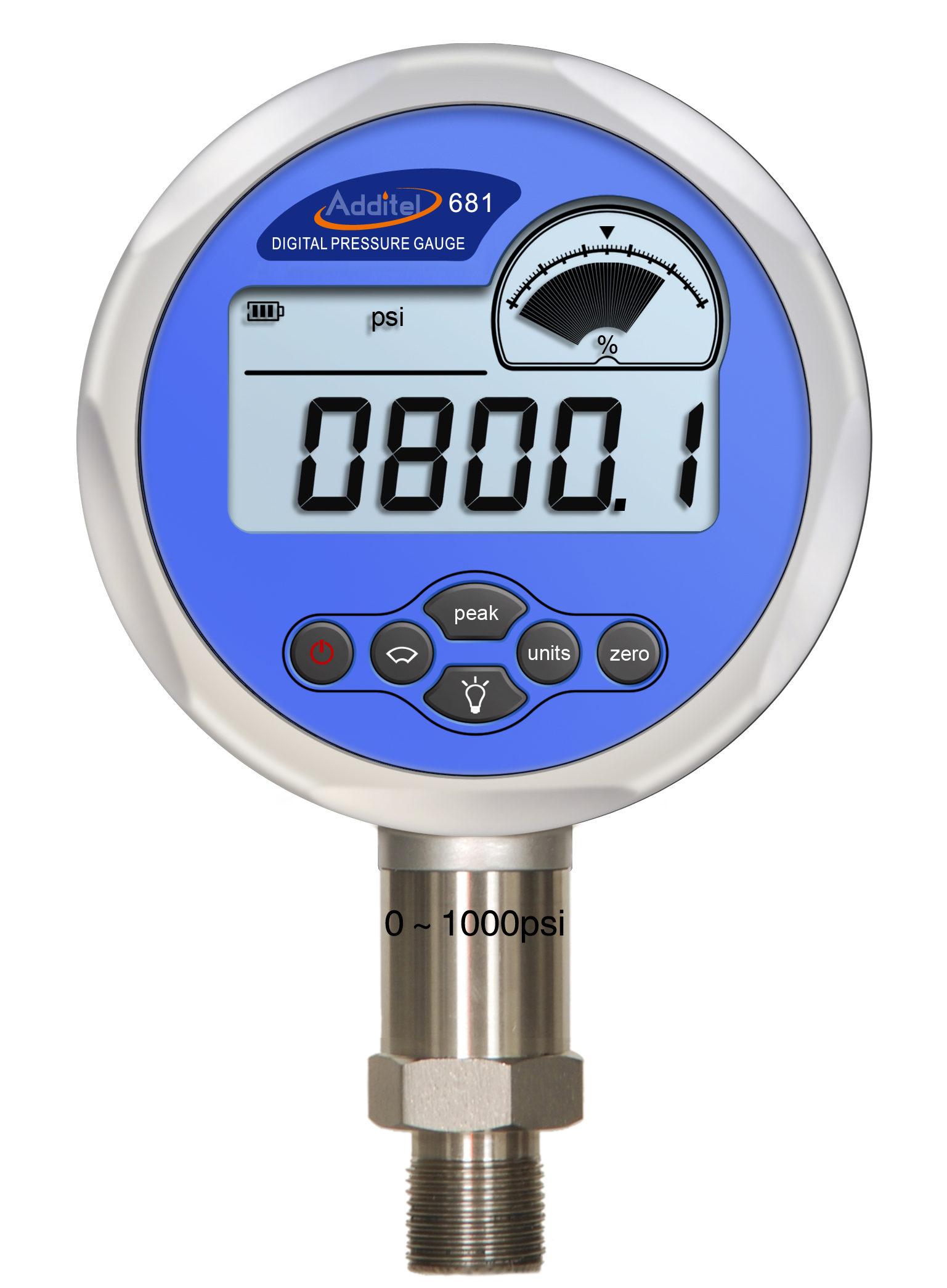 Digital Pressure Meter : Additel digital pressure gauge tool testing lab