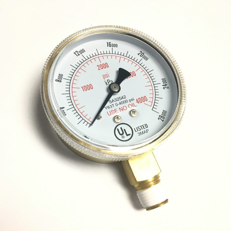 4000 PSI REGULATOR GAUGE